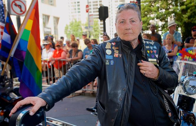 Soni S.H.S. Wolf at the 2015 San Francisco Pride parade. Photo: Jane Philomen Cleland