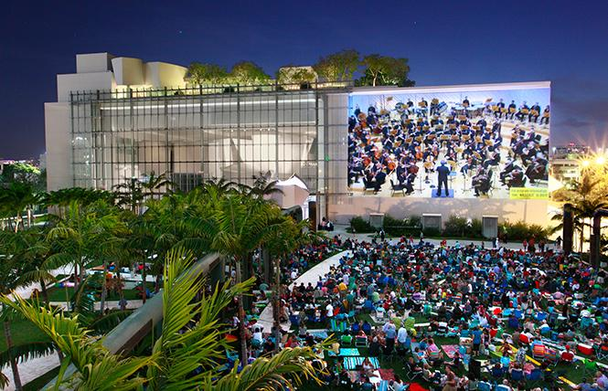 A New World Symphony Wallcast concert in Miami Beach. Photo: Rui Dias-Aidos