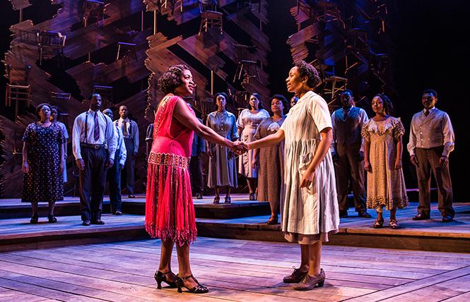 "Carla R. Stewart (Shug Avery) and Adrianna Hicks (Celie) in the North American tour cast of ""The Color Purple."" Photo: Matthew Murphy"