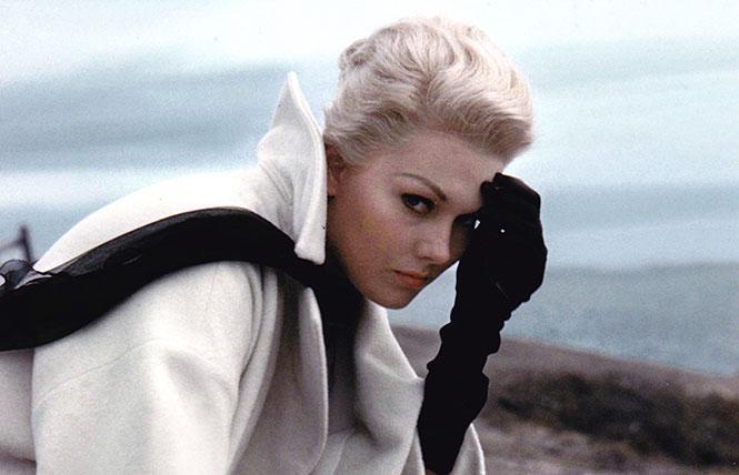 "Movie star Kim Novak is known for her dual roles in Alfred Hitchcock's ""Vertigo."" Photo: Outsider Enterprises"
