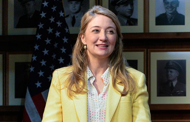 """Playwright and performer Heidi Schreck in the West Coast premiere of """"What the Constitution Means to Me"""" at Berkeley Rep. Photo: Alessandra Mello/Berkeley Repertory Theatre"""