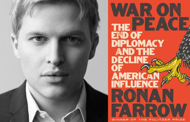 """War on Peace: The End of Diplomacy and the Decline of American Influence"" author Ronan Farrow. Photo: Brigitte Lacombe"