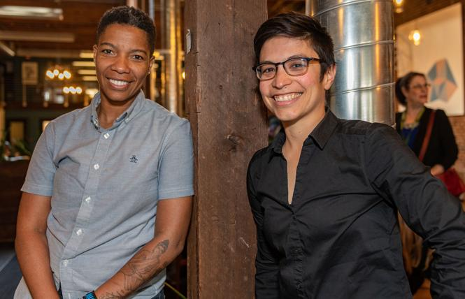 "Nenna Joiner, left, owner of Feelmore Adult Gallery, and Fivestar, co-founder of Luster Productions, were among the women executives at a recent forum who discussed success in ""sin businesses."" Photo: Jane Philomen Cleland"