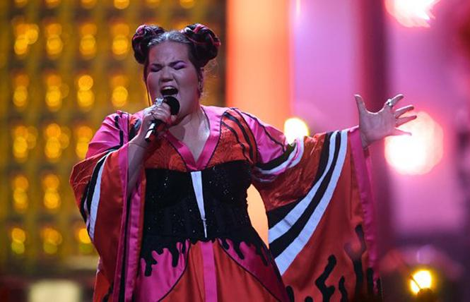 "Israeli singer Netta Barzilai won this year's Eurovision contest with her song, ""Toy."" Photo: Agence Presse France"