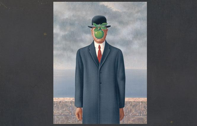 "René Magritte, ""Son of Man"" (1964), oil on canvas, private collection. Photo: Charly  Herscovici/Artists Rights Society (ARS), New York"
