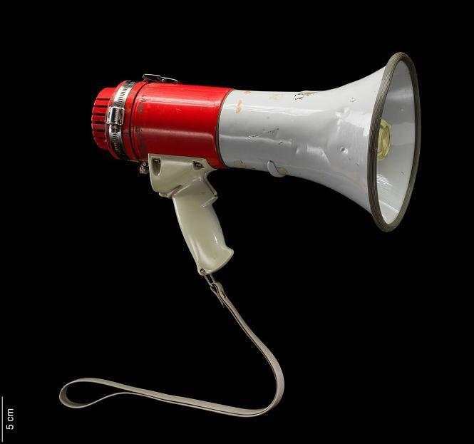 The bullhorn used by Harvey Milk, and later, gay activist Cleve Jones, is now part of a Smithsonian exhibit. Photo: Courtesy Smithsonian