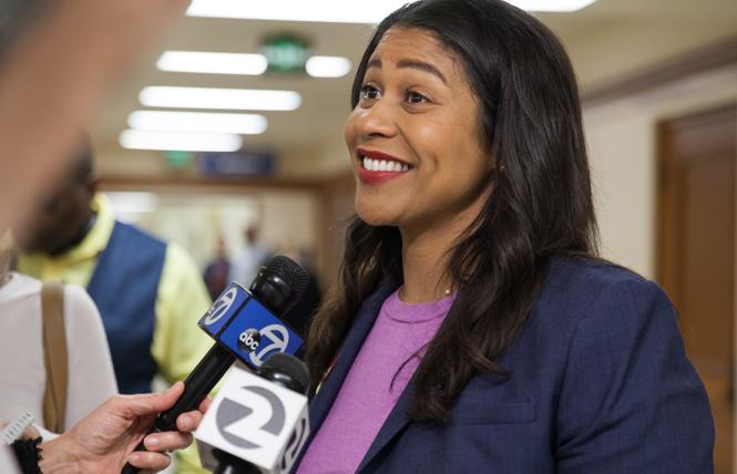 Mayoral candidate London Breed has floated the idea of a housing bond. Photo: Kelly Sullivan