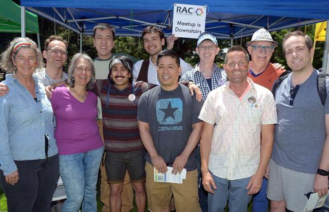 Members of Outpost had a booth at last year's San Mateo Pride festival under the name RAC. Photo: Courtesy Travis Woodmansee
