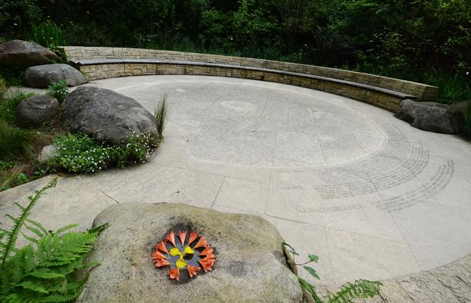 The Circle of Friends, which remembers those who have died of HIV/AIDS, is the centerpiece of the National AIDS Memorial Grove in Golden Gate Park. Photo: Rick Gerharter