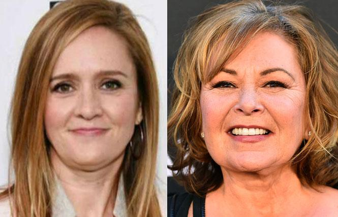 TV stars in trouble: Samantha Bee (left) and Roseanne Barr. Photos: Courtesy the subjects