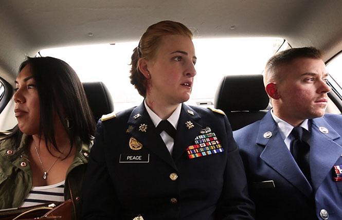 "Scene from directors Fiona Dawson & Gabriel Silverman's ""TransMilitary."" Photo: Frameline"