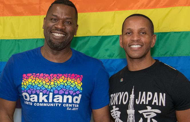 Joe Hawkins, left, and Jeff Myers co-founded the Oakland LGBTQ Community Center. Photo: Jane Philomen Cleland