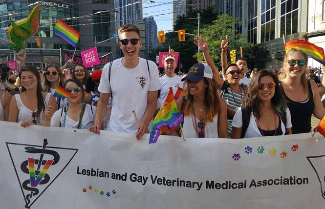 Members of the former Lesbian and Gay Veterinary Medical Association marched at Toronto Pride several years ago. Photo: Courtesy Pride Veterinary Medical Community