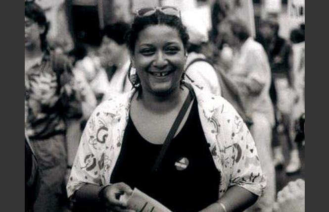 Jewelle Gomez took part in the 1989 Pride March in New York City. Photo: Courtesy Jewelle Gomez