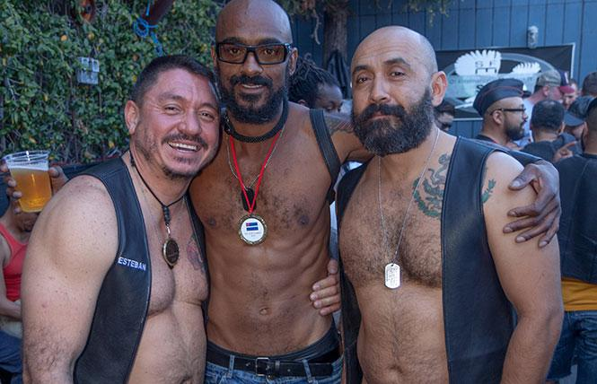 Leather hunks at the SF Eagle.