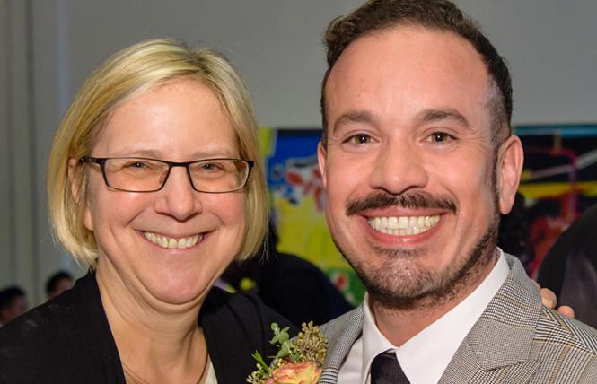 San Francisco LGBT Community Center Executive Director Rebecca Rolfe and deputy director Roberto Ordeñana. Photo: Trish Tunney