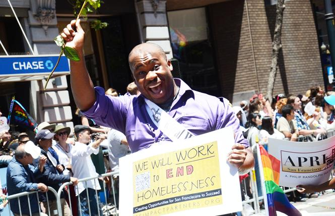 Shaun Haines, who started San Francisco Impact Partners, was an honoree in this year's Pride parade. Photo: Rick Gerharter