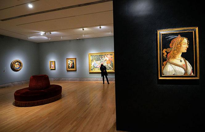 "Six paintings by Sandro Botticelli, including ""Idealized Portrait of a Lady (Portrait of Simonetta Vespucci as Nymph)"" (ca. 1475), are included in the Legion of Honor's exhibit ""Truth and Beauty: The Pre-Raphaelites and the Old Masters."" Photo: Rick Gerharter"