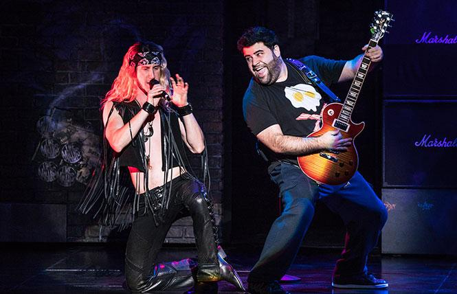 "Hernando Umana and Rob Colletti in the ""School of Rock"" touring production now at the Orpheum Theatre. Photo: Matthew Murphy"