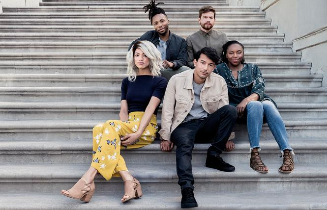 Gilead Sciences' new ad campaign promoting PrEP features a multiethnic group of young people. Photo: Courtesy Gilead Sciences