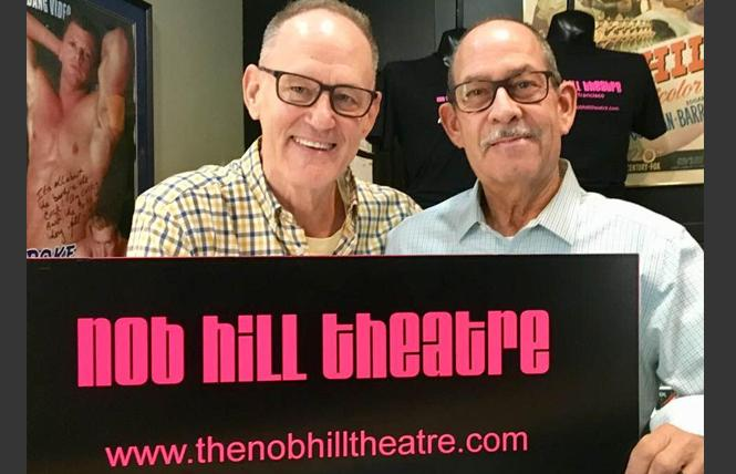 Larry Hoover, left, and his husband, Gary Luce, will close the Nob Hill Theatre next month. Photo: Sari Staver