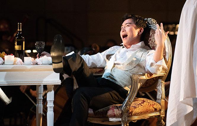 "Merola Opera Program's Schwabacher Summer Concert featured baritone Xiaomeng Zhang performing the title role in scenes from Mozart's ""Don Giovanni."" Photo: Kristen Loken"