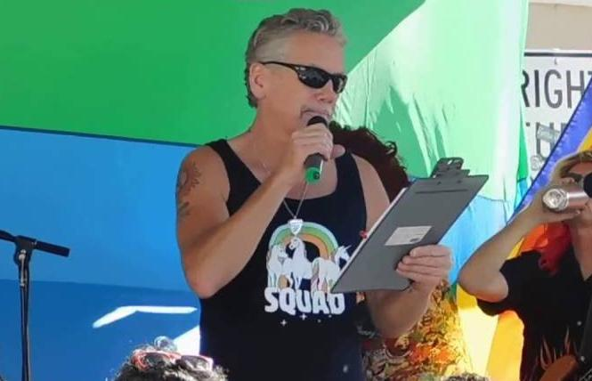 Castro Valley Pride organizer Billy Ray Bradford speaks at the 2016 event. Photo: Courtesy YouTube
