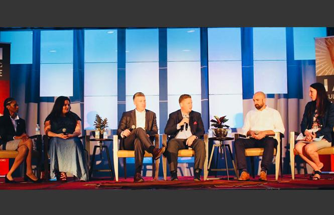 Panelists held a fireside chat at the Cultivating Change Foundation's summit last month that included, from left, Ebony Webber, COO at the National MANRRS Organization; Annette Sarlatte-Matsu, recruiter and diversity and inclusion specialist at the Climate Corporation; Jeff Rowe, president global seeds of North America & China at Syngenta; Justin Ransom, senior director of sustainable food strategy at Tyson Food Inc.; Andy Armbruster, director of integration planning - culture and change management at Monsanto, Bayer Integration Team; and Ellen Thompson, director of the National TeachAg Campaign. Photo: Courtesy Cultivating Change Foundation