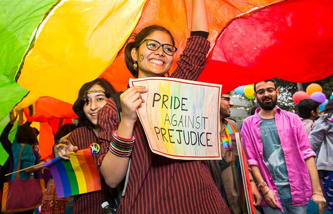 Indians celebrate LGBT Pride. Photo: Courtesy of World Nomads