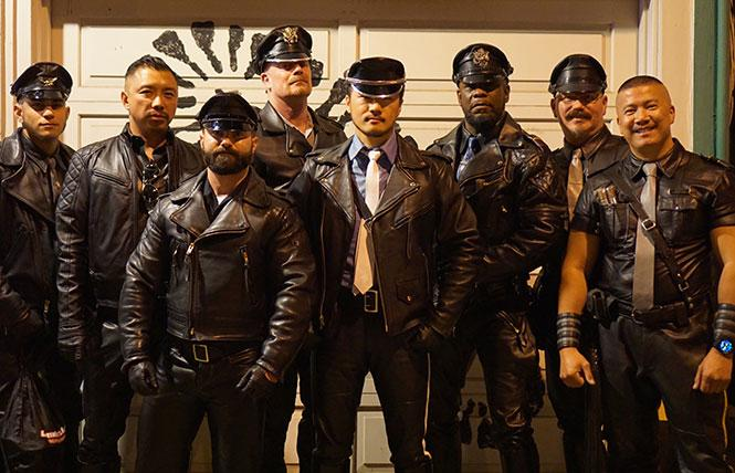 Just a few of the many sexy, leathered up men who attended the BLUF SF 2015 annual In Gear dinner. photo: Jon Fulton