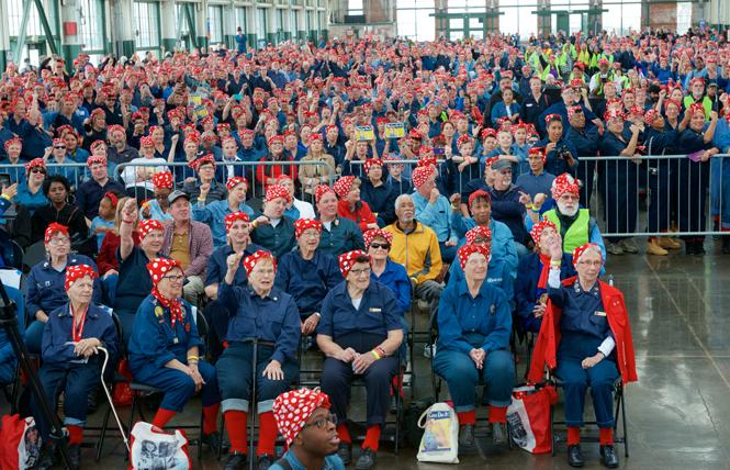People dressed up for last year's Rosie the Riveter contest in Richmond. Photo: Jane Philomen Cleland