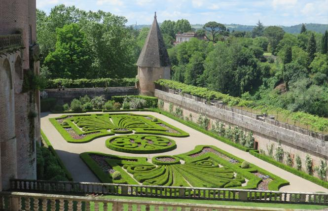 The Garden of Musee Toulouse-Latrec overlooks River Tarn in Albi, France. Photo: Charlie Wagner