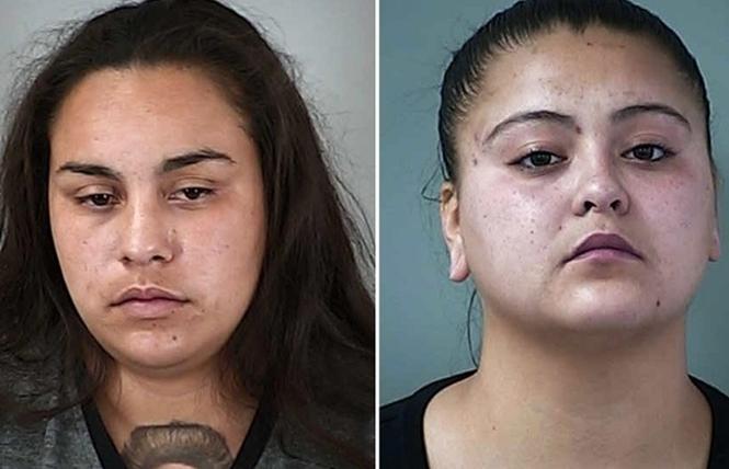 Alexandria Campos, left, and Tori Sanchez, right. Photo: Courtesy Morgan Hill Times