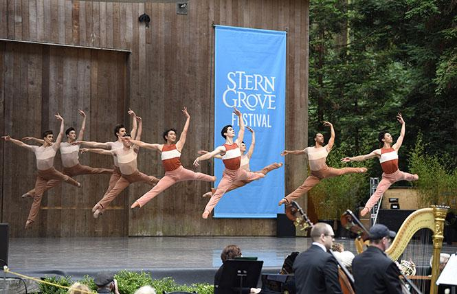 en of the San Francisco Ballet danced at Stern Grove last Sunday afternoon. Photo: Courtesy SF Ballet