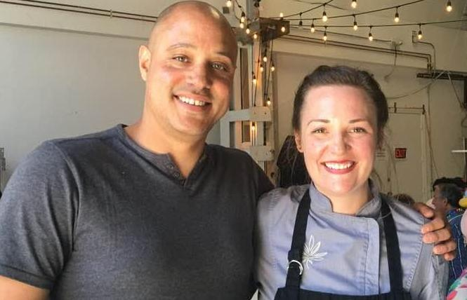 Ryan Bush and his wife, Coreen Carroll, operate an underground cannabis pop-up dinner event. Photo: Sari Staver