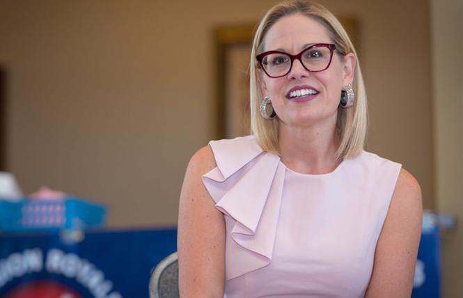 Arizona Senate candidate Kyrsten Sinema. Photo: Courtesy Sinema for Senate campaign