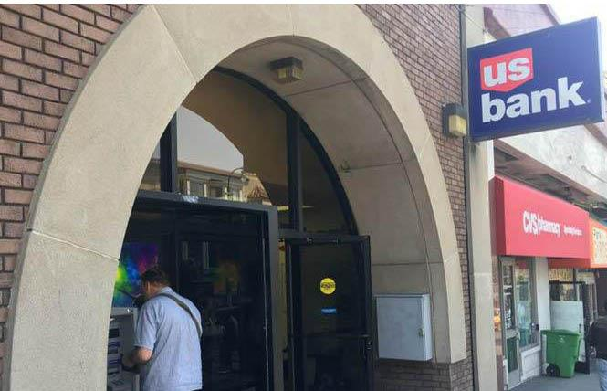 This U.S. Bank branch in the Castro was robbed Tuesday. Photo: Sari Staver
