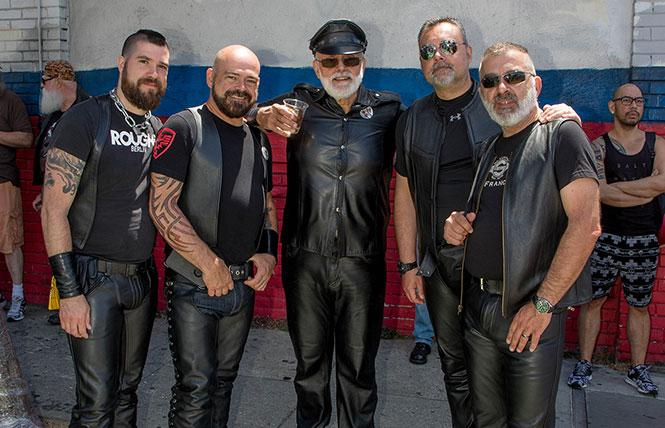 Up Your Alley street fair seems to have a high percentage of sexy attendees in full leather or other fetish gear. photo: Rich Stadtmiller