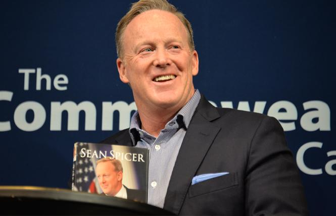 Sean Spicer talked about his new book August 2 at the Commonwealth Club in San Francisco. Photo: Bill Wilson