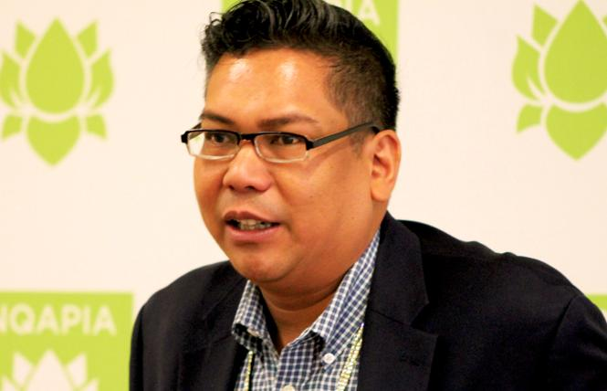 National Queer Asian Pacific Islander Alliance Executive Director Glenn D. Magpantay speaks to reporters at the organization's recent conference in San Francisco. Photo: Heather Cassell