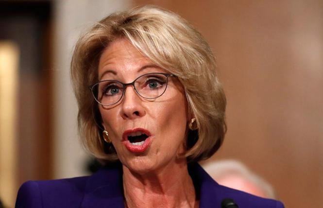 Education Secretary Betsy DeVos. Photo: Courtesy AP