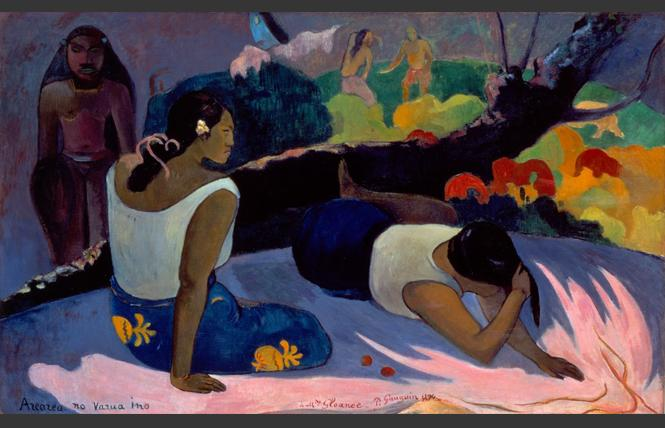 "Paul Gauguin, ""Reclining Tahitian Women"" (1894), oil on canvas. Ny Carlsberg Glyptotek, Copenhagen. Photo: Courtesy FAMSF"