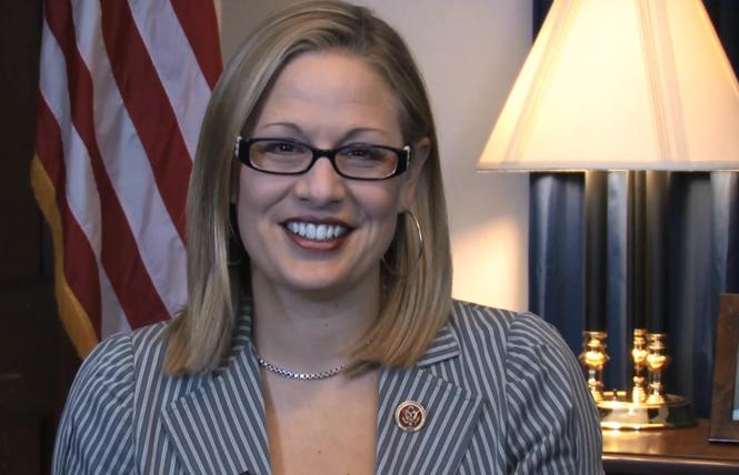 U.S. Senate nominee Kyrsten Sinema