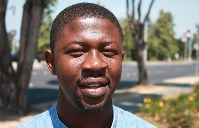 Nigerian gay activist and author Edafe Okporo. Photo: Heather Cassell