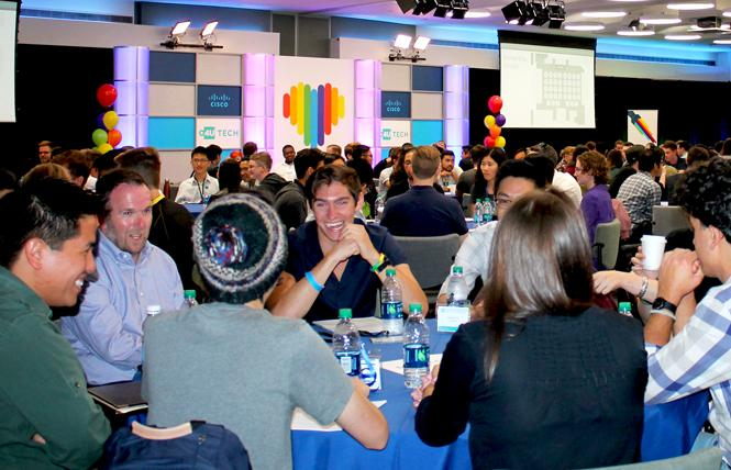 LGBT computer science students from around the country get mentoring by tech leaders at the Out for Undergrad Tech Conference at Cisco Systems in San Jose September 8. Photo: Heather Cassell