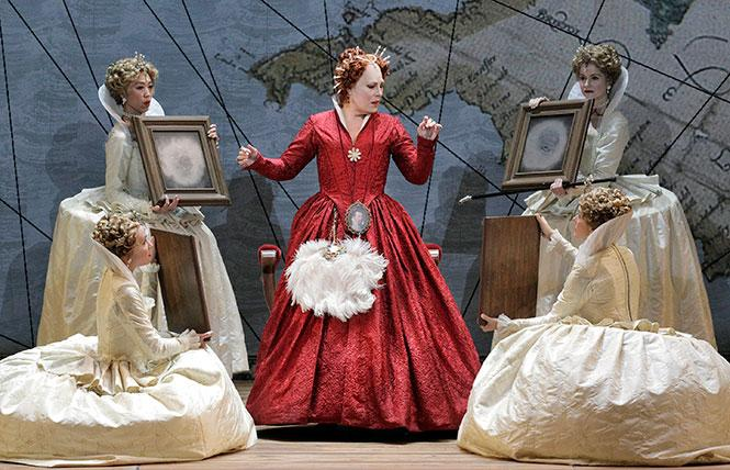 "Sondra Radvanovsky (center) as Elisabetta in Donizetti's ""Roberto Devereux."" Photo: Cory Weaver/San Francisco Opera"