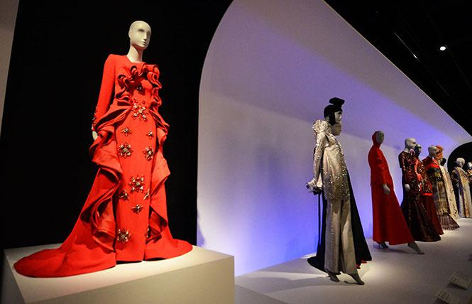 """The """"Red Rose"""" gown by Mohd Hafizi Radzi Woo is featured in the """"Contemporary Muslim Fashions"""" exhibit now at the de Young Museum. Photo: Rick Gerharter"""