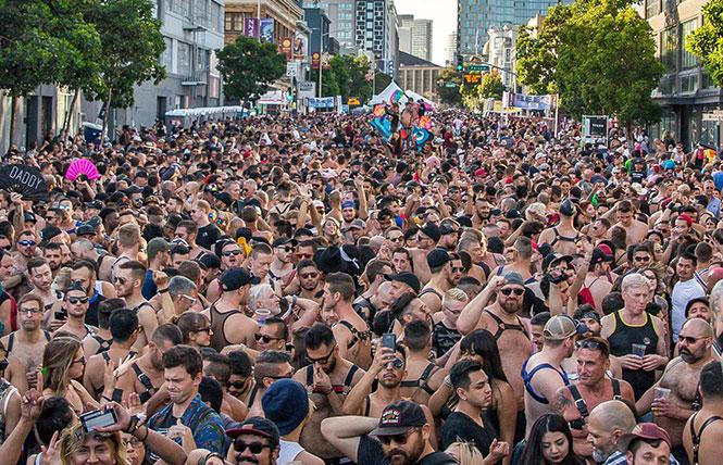 The sprawling crowd at last year's Folsom street Fair. photo: Iggy