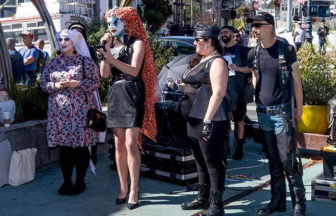 Members of the Sisters of Perpetual Indulgence and the leather community kicked off Leather Week at the annual Leather Walk September 23. Photo: Rich Stadtmiller