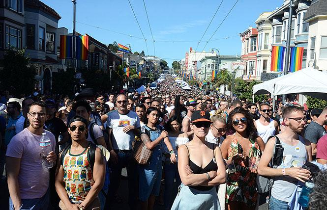 San Francisco leaders early next year are expected to adopt the LGBTQ+ Cultural Heritage Strategy, which would preserve important LGBT sites throughout the city, including the Castro, which holds the annual Castro Street Fair every fall. Photo: Rick Gerharter